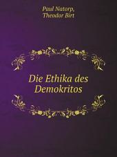 Die Ethika des Demokritos