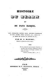 Histoire du Bearn et du Pays basque