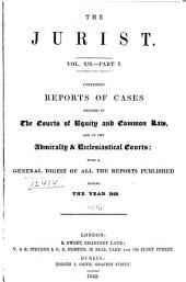 The Jurist: Volume 12, Part 1