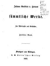 Johann Gottfried v. Herder's sämmtliche Werke in vierzig Bänden: Bände 37-38
