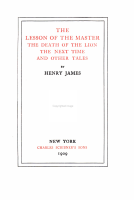 The Lesson of the Master PDF