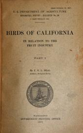 Birds of California in relation to the fruit industry: Parts 1-2