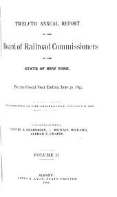 Annual Report of the Board of Railroad Commissioners of the State of New York for the Fiscal Year Ending ...: Volume 2