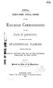 Annual Report of the Railroad Commissioners of the State of Connecticut, for ...