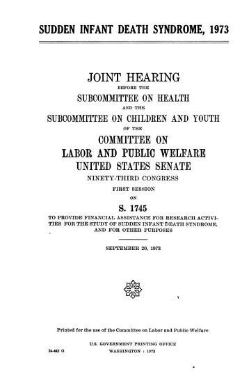 Sudden Infant Death Syndrome  1973 PDF