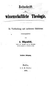 Zeitschrift für wissenschaftliche theologie: Bände 6-7