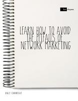 Learn How to Avoid the Pitfalls of Network Marketing PDF