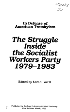 The Struggle Inside the Socialist Workers Party   1979 1983 PDF