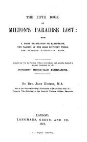 The third (fourth, fifth) book of Milton's Paradise lost: with a prose tr. and notes, by J. Hunter