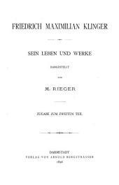Briefbuch zu Friedrich Maximilian Klinger ...