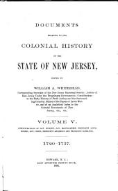 Documents Relating to the Colonial, Revolutionary, and Post-Revolutionary History of the State of New Jersey: Volume 5
