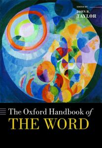 The Oxford Handbook of the Word PDF