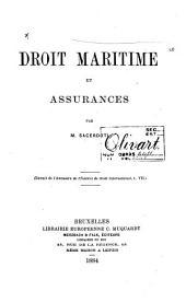 Droit maritime et assurances
