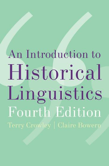 An Introduction to Historical Linguistics PDF