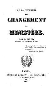 De la nécessité d'un changement de ministère: Volume5