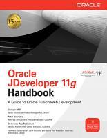 Oracle JDeveloper 11g Handbook PDF