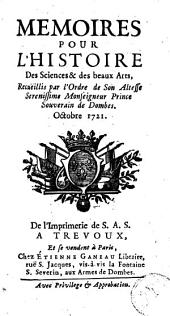 Mémoires pour l'histoire des sciences et des beaux-arts: Volume 83; Volume 1721