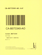 California. Court of Appeal (2nd Appellate District). Records and Briefs: B073340, Appellant's Opening