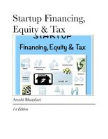STARTUP Financing  Equity   Tax PDF