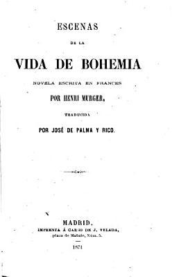 Escenas de la vida de Bohemia PDF