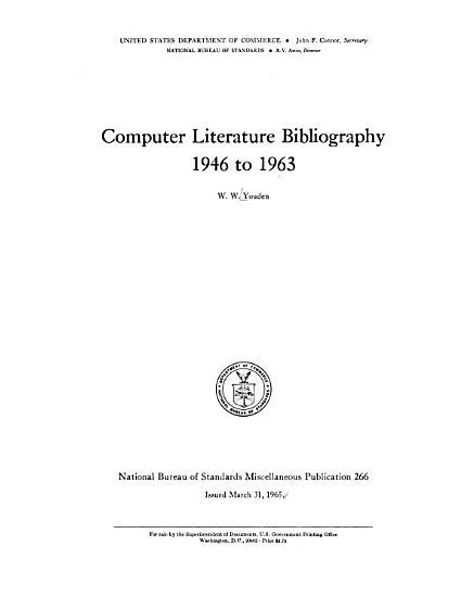 National Bureau of Standards Miscellaneous Publication PDF