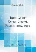 Journal of Experimental Psychology  1917  Vol  2  Classic Reprint  PDF