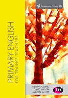 Primary English for Trainee Teachers PDF