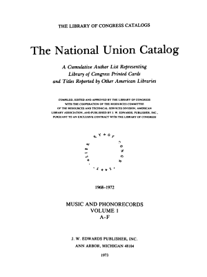 Library of Congress Catalog