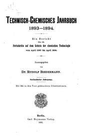 Technisch-chemisches jahrbuch: Band 16