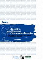 Anais do I Encontro Nacional Movimentos Docentes Volume   I PDF