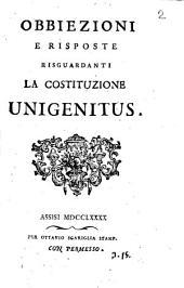 Obbiezioni e risposte risguardanti la costituzione Unigenitus