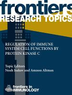 Regulation of immune system cell functions by protein kinase C