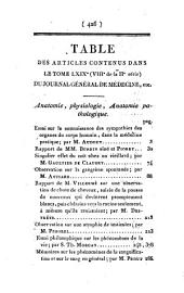 Journal général de médecine, de chirurgie et de pharmacie franc̜aises et étrangeres, ou, Recueil périodique de la Société de médecine de Paris: Volume69