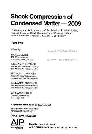 Shock Compression of Condensed Matter 2009