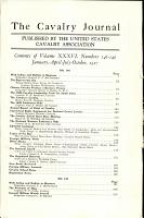 The Cavalry Journal PDF