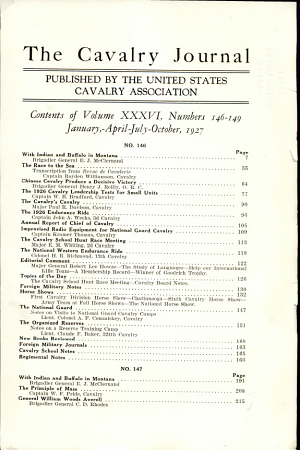 The Cavalry Journal