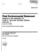 Virgil C. Summer Nuclear Station Unit 1, Operation: Environmental Impact Statement