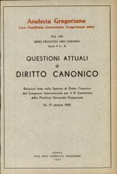 Questioni Attuali Di Diritto Canonico