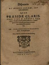 Disputatio De Morbis Formae, Seu totius substantiae