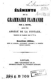 Eléments de la grammaire flamande, suivis d'un abrégé de la syntaxe