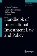 Handbook of International Investment Law and Policy PDF
