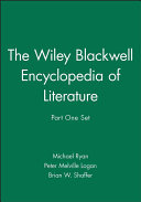 The Wiley Blackwell Encyclopedia of Literature  Part One Set PDF