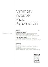 Minimally Invasive Facial Rejuvenation