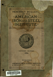 Bulletin of the American Iron and Steel Institute: Volume 4, Issue 11