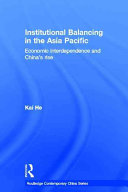 Institutional Balancing in the Asia Pacific