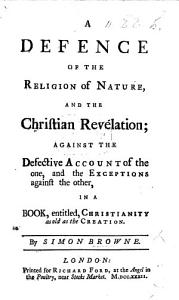 A Defence of the Religion of Nature and the Christian Revelation PDF