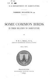 Some Common Birds in Their Relation to Agriculture