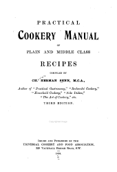 Practical Cookery Manual of Plain and Middle Class Recipes