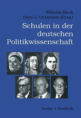 Schulen der deutschen Politikwissenschaft PDF