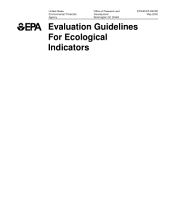 Evaluation guidelines for ecological indicators